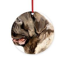English Mastiff portrait Ornament (Round)