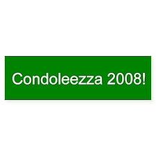 Condoleezza 2008 Bumper Bumper Sticker