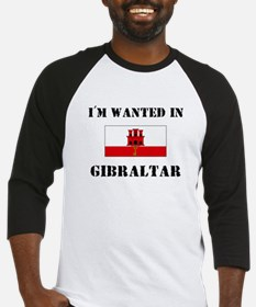 I'm Wanted In Gibraltar Baseball Jersey