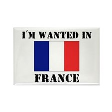 I'm Wanted In France Rectangle Magnet (10 pack)
