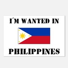 I'm Wanted In Philippines Postcards (Package of 8)
