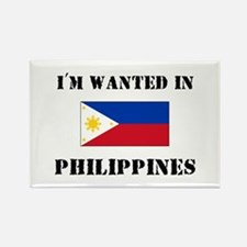 I'm Wanted In Philippines Rectangle Magnet