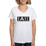 I Hate New York Women's V-Neck T-Shirt
