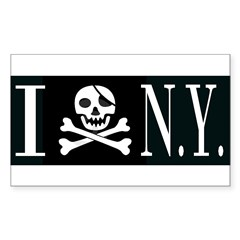 I Hate New York Rectangle Decal