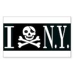 I Hate New York Rectangle Sticker