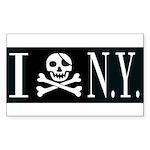 I Hate New York Rectangle Sticker 50 pk)