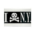 I Hate New York Rectangle Magnet (100 pack)