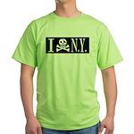I Hate New York Green T-Shirt