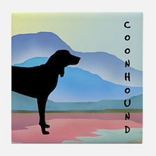 Coonhound Mountains Tile Coaster