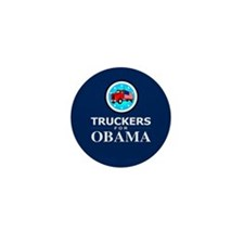 Truckers for Obama Mini Button (10 pack)