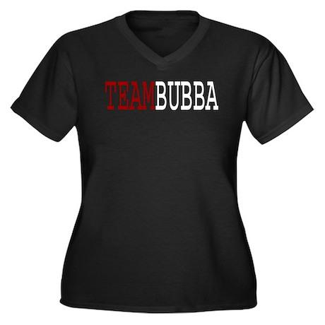 TEAM BUBBA Women's Plus Size V-Neck Dark T-Shirt
