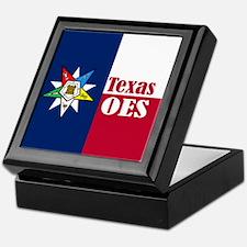 Texas Flag Eastern Star Keepsake Box