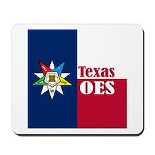 Texas Flag Eastern Star Mousepad