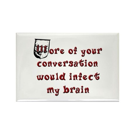 Stop Talking Rectangle Magnet (10 pack)