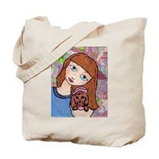 Kritter Girl and Baby - Dog Tote Bag