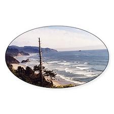 Manzanita Landscape Watercolor Oval Decal