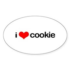 i <3 cookie Oval Decal