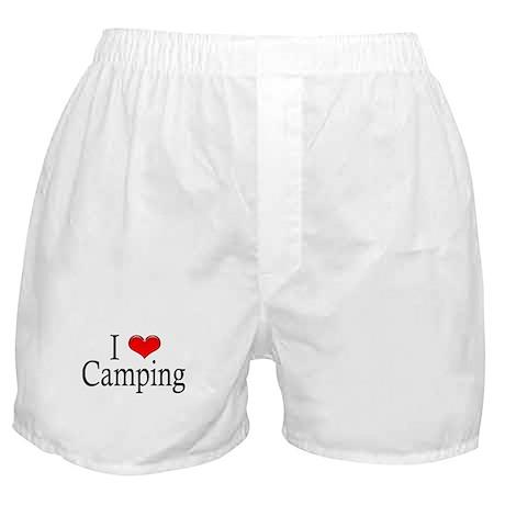 I Heart Camping Boxer Shorts