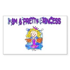 I am a pretty Princess Rectangle Decal