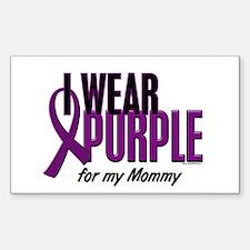 I Wear Purple For My Mommy 10 Rectangle Sticker 1