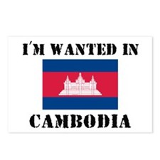 I'm Wanted In Cambodia Postcards (Package of 8)