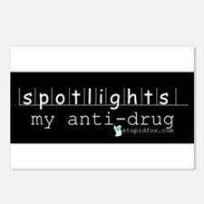 Black Anti-drug Spotlights Postcards (Package of 8