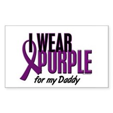 I Wear Purple For My Daddy 10 Rectangle Decal