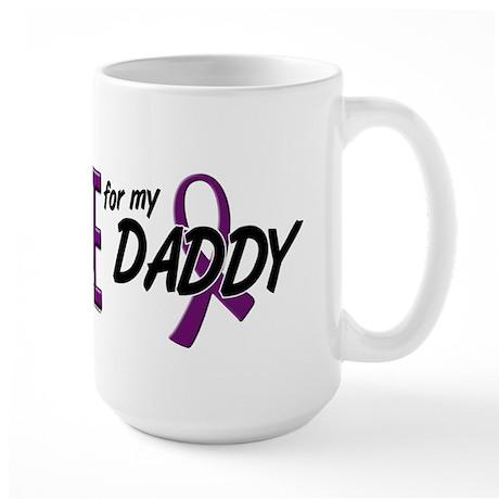 I Wear Purple For My Daddy 10 Large Mug