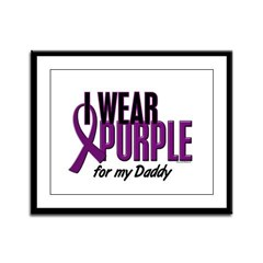 I Wear Purple For My Daddy 10 Framed Panel Print