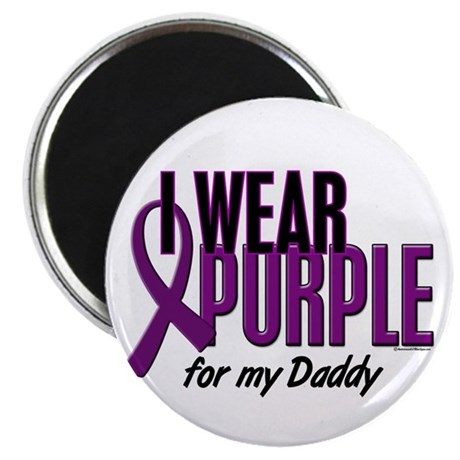I Wear Purple For My Daddy 10 Magnet