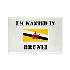 I'm Wanted In Brunei Rectangle Magnet