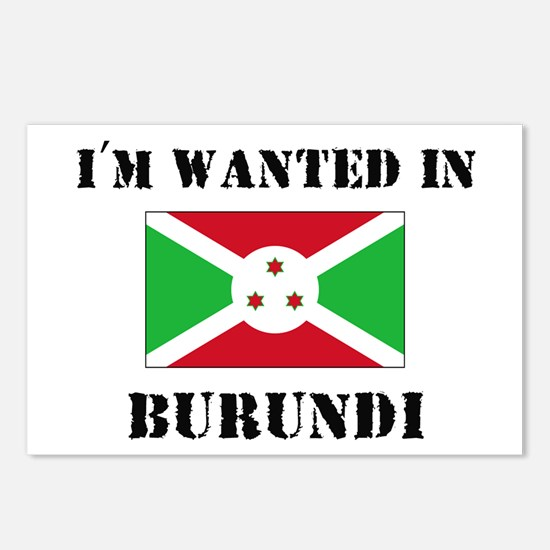 I'm Wanted In Burundi Postcards (Package of 8)