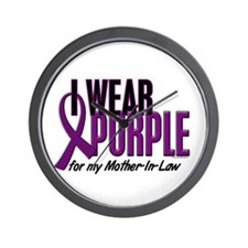 I Wear Purple For My Mother-In-Law 10 Wall Clock