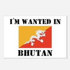 I'm Wanted In Bhutan Postcards (Package of 8)