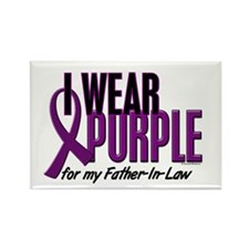 I Wear Purple For My Father-In-Law 10 Rectangle Ma