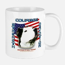 courage strength devotion pit bull design Mug