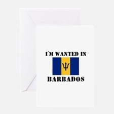 I'm Wanted In Barbados Greeting Card