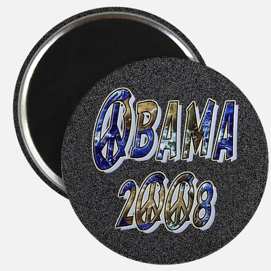 Obama 2008 Earth Magnet