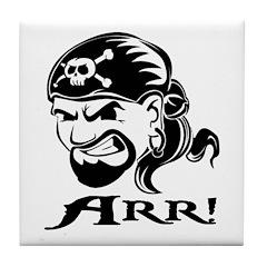 Arr! Pirate Man Tile Coaster