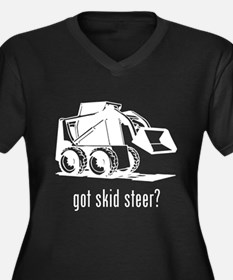 Skid Steer Women's Plus Size V-Neck Dark T-Shirt