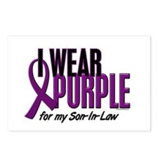 I Wear Purple For My Son-In-Law 10 Postcards (Pack