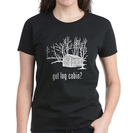 Log Cabin 1 Women's Dark T-Shirt