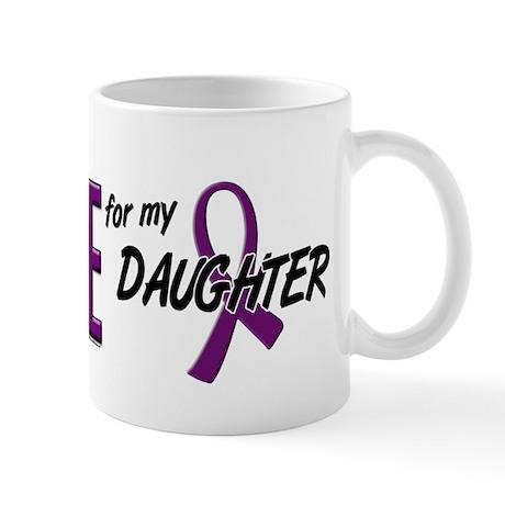 I Wear Purple For My Daughter 10 Mug