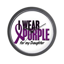 I Wear Purple For My Daughter 10 Wall Clock