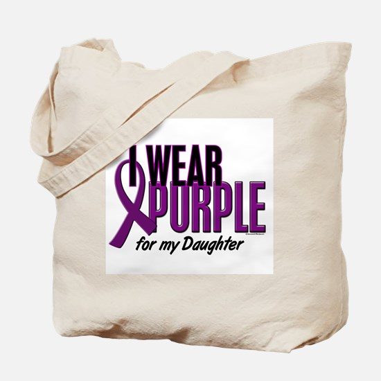 I Wear Purple For My Daughter 10 Tote Bag