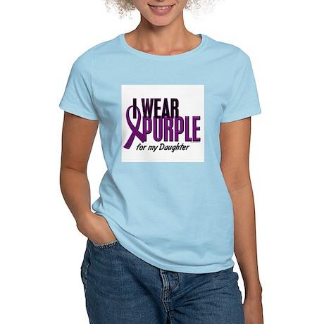 I Wear Purple For My Daughter 10 Women's Light T-S
