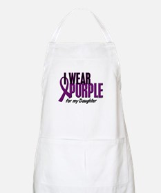 I Wear Purple For My Daughter 10 BBQ Apron