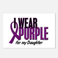 I Wear Purple For My Daughter 10 Postcards (Packag