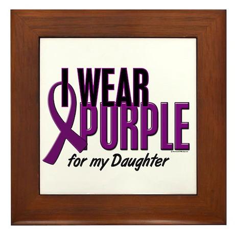 I Wear Purple For My Daughter 10 Framed Tile
