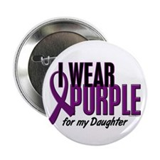 "I Wear Purple For My Daughter 10 2.25"" Button (10"